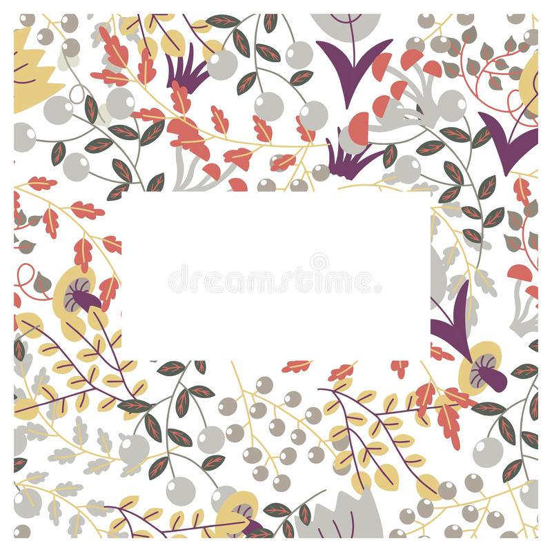 Illustration de vecteur de couverture florale illustration stock
