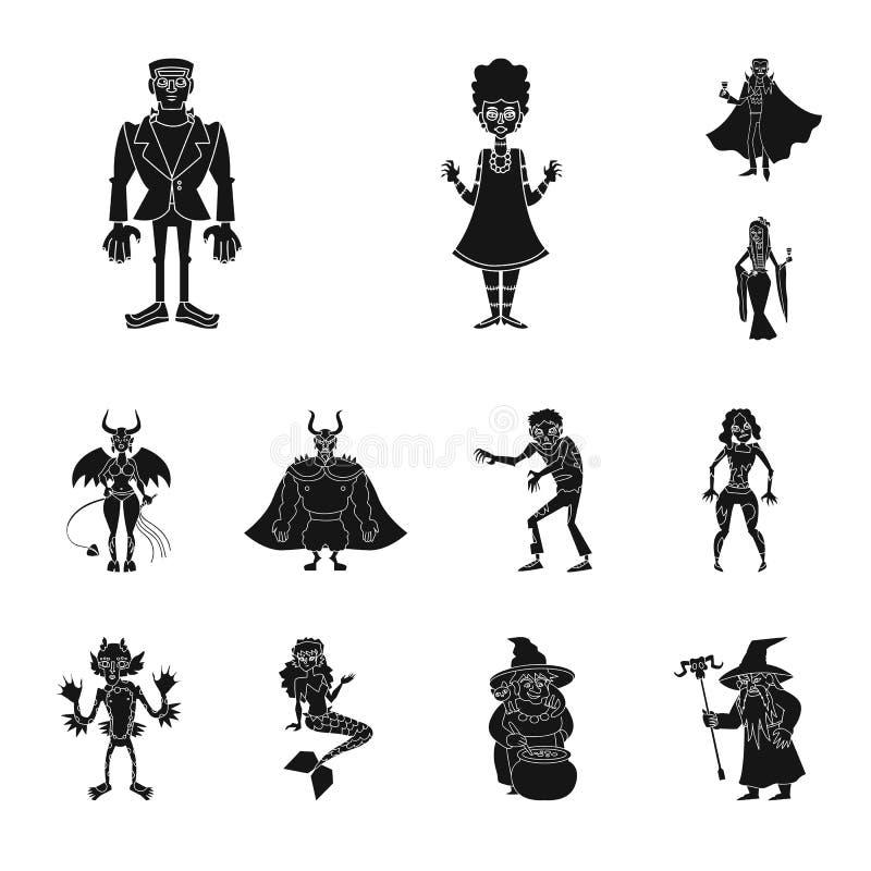 Illustration de vecteur de créature et d'icône de diablerie Placez de la créature et de l'illustration courante de vecteur de Hal illustration libre de droits