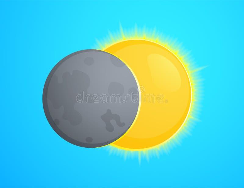 Illustration de vecteur d'éclipse illustration de vecteur