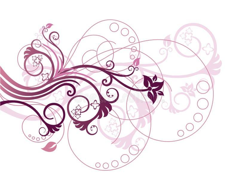 Illustration de vecteur d'élément de conception florale illustration libre de droits