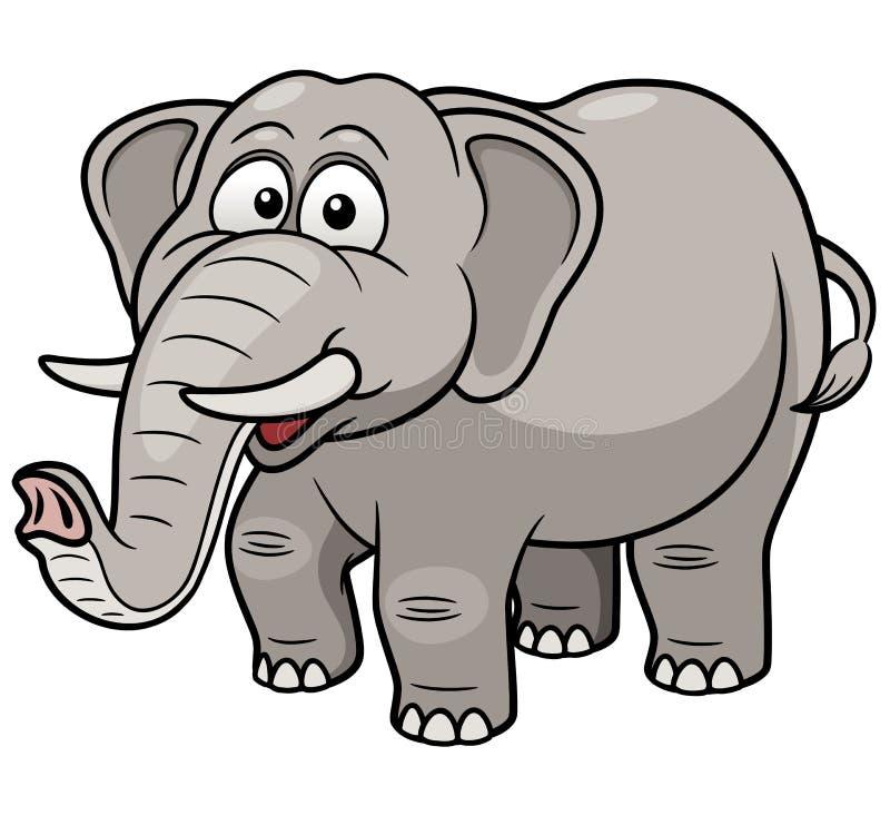 Éléphant de bande dessinée illustration libre de droits