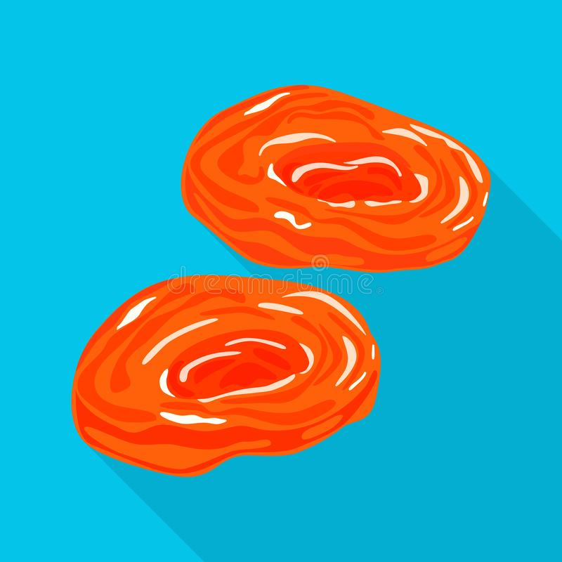 Illustration de vecteur d'abricot et d'icône sèche Collection d'abricot et d'illustration courante décorative de vecteur illustration libre de droits