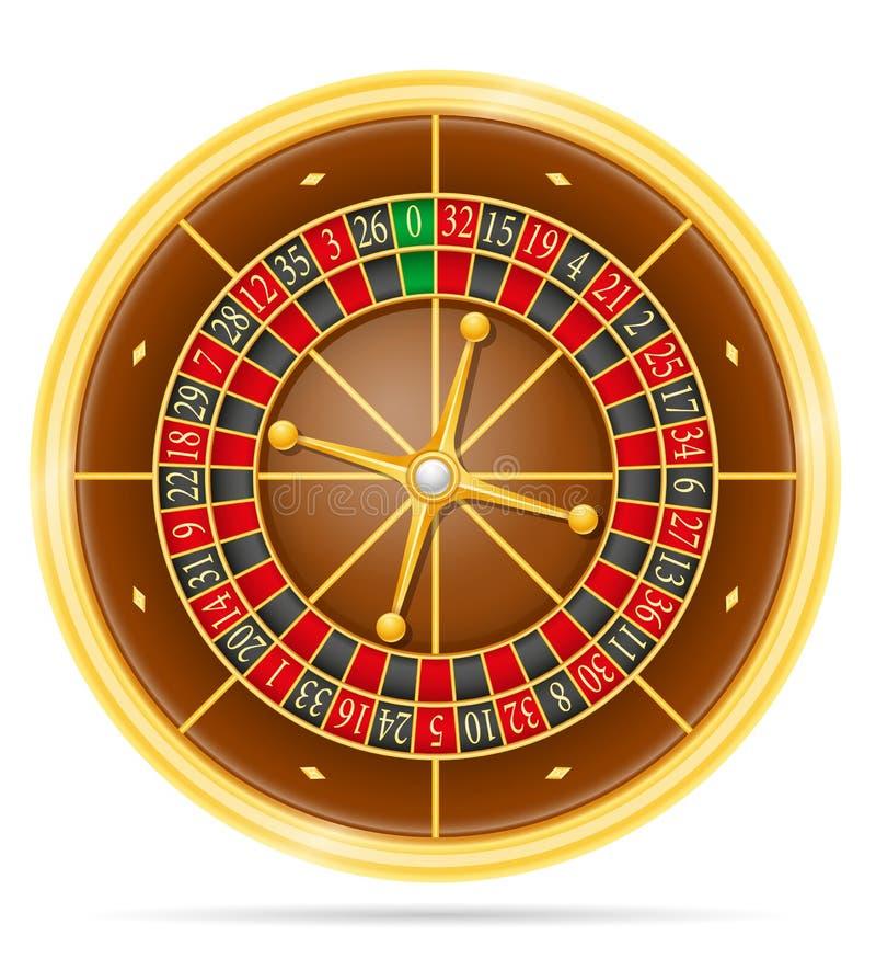 Illustration de vecteur d'actions de roulette de casino illustration de vecteur