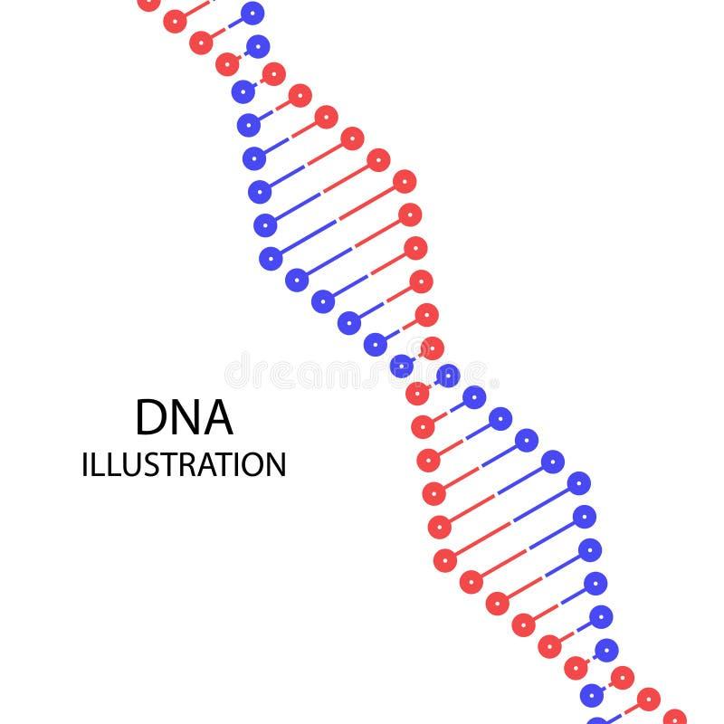 Illustration de vecteur d'ADN d'amusement illustration de vecteur