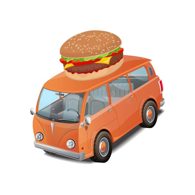 Download Illustration De Vecteur D'aliments De Préparation Rapide D'hamburger De Voiture Sur Le Fond Blanc Illustration de Vecteur - Illustration du pain, affaires: 76079788
