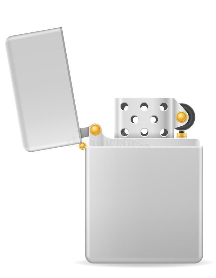 Illustration de vecteur d'allumeur d'essence en métal illustration libre de droits