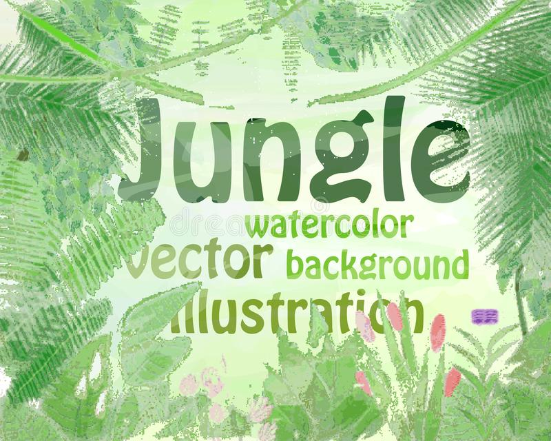 Illustration de vecteur d'aquarelle de jungle illustration de vecteur