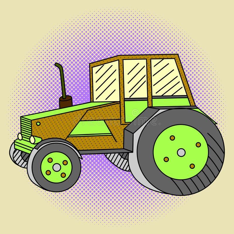 Illustration de vecteur d'art de bruit de tracteur illustration libre de droits