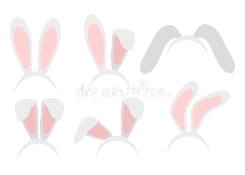 Illustration de vecteur d'aspiration de main de masque d'oreilles de lapin de Pâques oreille de lapin illustration de vecteur
