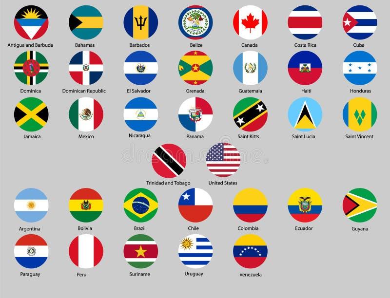 Illustration de vecteur d'ensemble différent de drapeaux de pays illustration stock