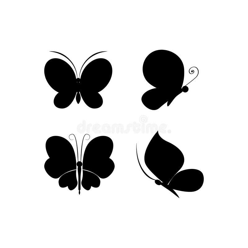 Illustration de vecteur d'ensemble d'icônes de papillon illustration de vecteur