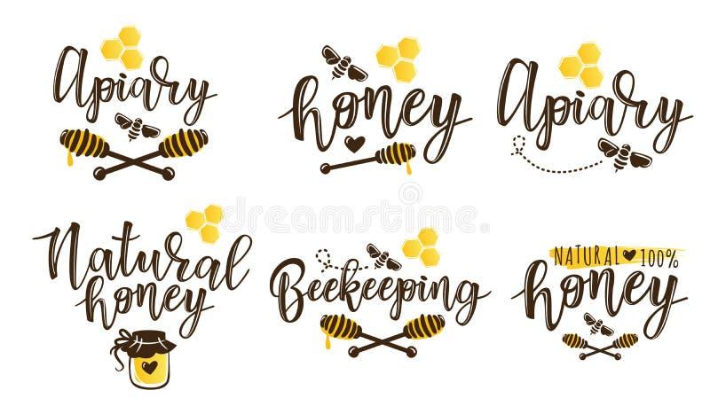 Illustration de vecteur d'ensemble de l'apiculture illustration stock