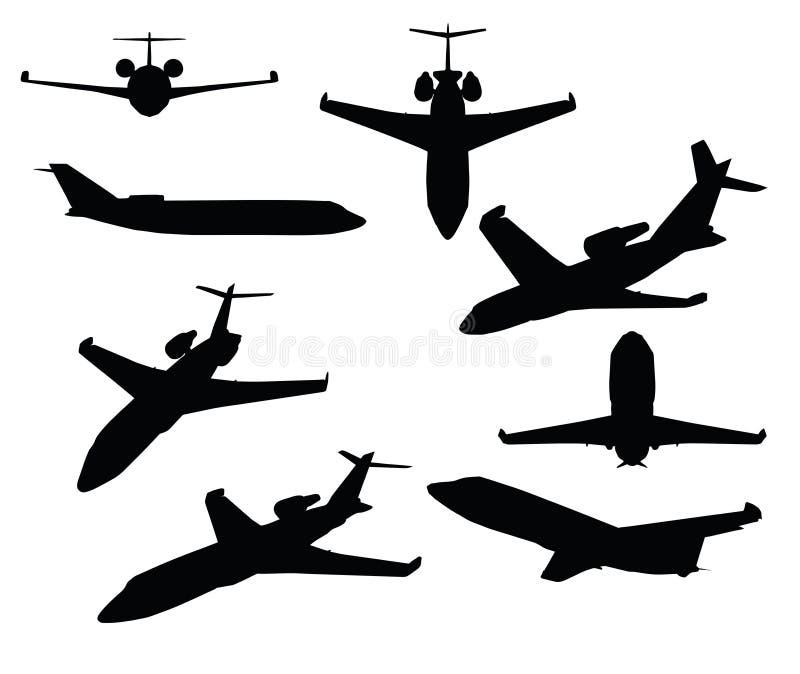 Illustration de vecteur d'ENV 10 de jet privé sur le fond blanc illustration stock