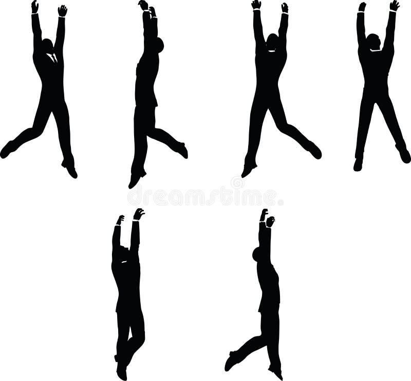 Illustration de vecteur d'ENV 10 en silhouette d'accrocher d'homme d'affaires illustration stock