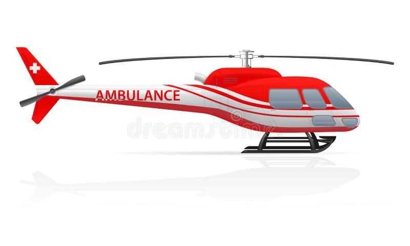 Illustration de vecteur d'hélicoptère d'ambulance illustration de vecteur
