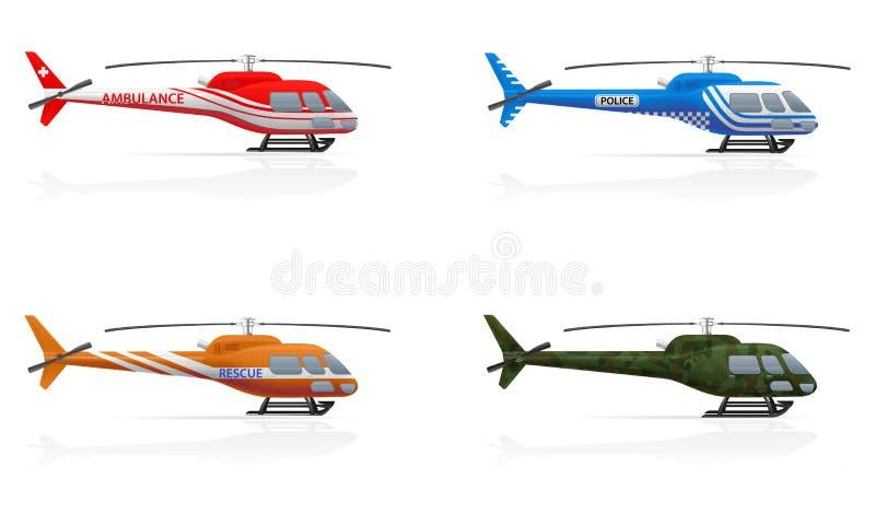 Illustration de vecteur d'hélicoptères de but spécial illustration stock