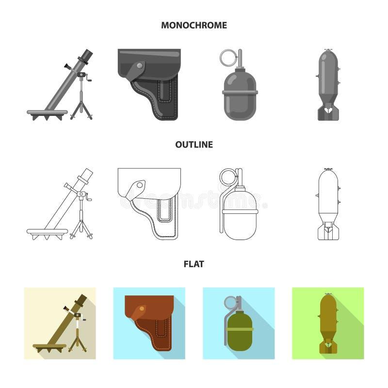 Illustration de vecteur d'icône d'arme et d'arme à feu Ensemble d'icône de vecteur d'arme et d'armée pour des actions illustration de vecteur