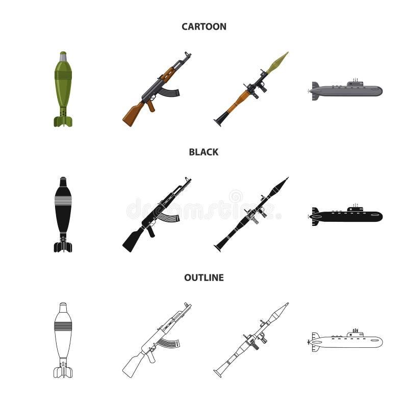 Illustration de vecteur d'icône d'arme et d'arme à feu Ensemble de symbole boursier d'arme et d'armée pour le Web illustration libre de droits