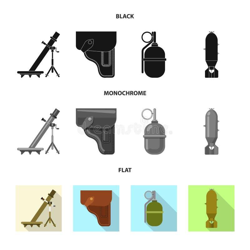 Illustration de vecteur d'icône d'arme et d'arme à feu Ensemble de symbole boursier d'arme et d'armée pour le Web illustration de vecteur