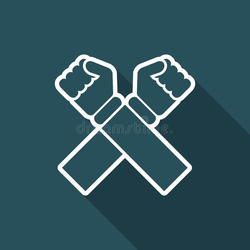 Illustration de vecteur d'icône croisée d'isolement simple illustration libre de droits