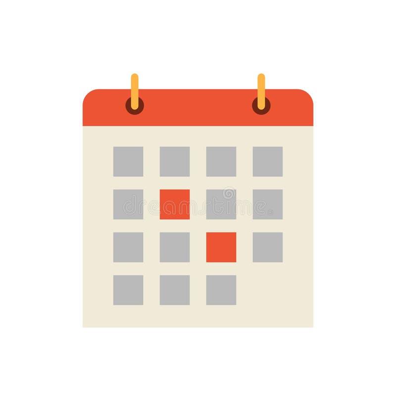 Illustration de vecteur d'icône de dates civiles et de jours illustration stock
