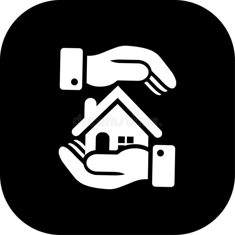 Illustration de vecteur d'icône d'immobiliers image libre de droits