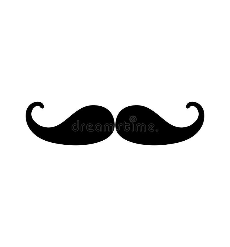 Illustration de vecteur d'icône de moustache de l'Italie d'isolement sur le blanc pour le Web illustration libre de droits