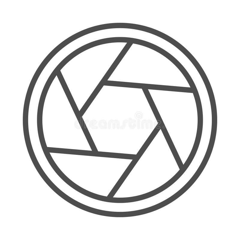 Illustration de vecteur d'icône d'obturateur de caméra illustration de vecteur