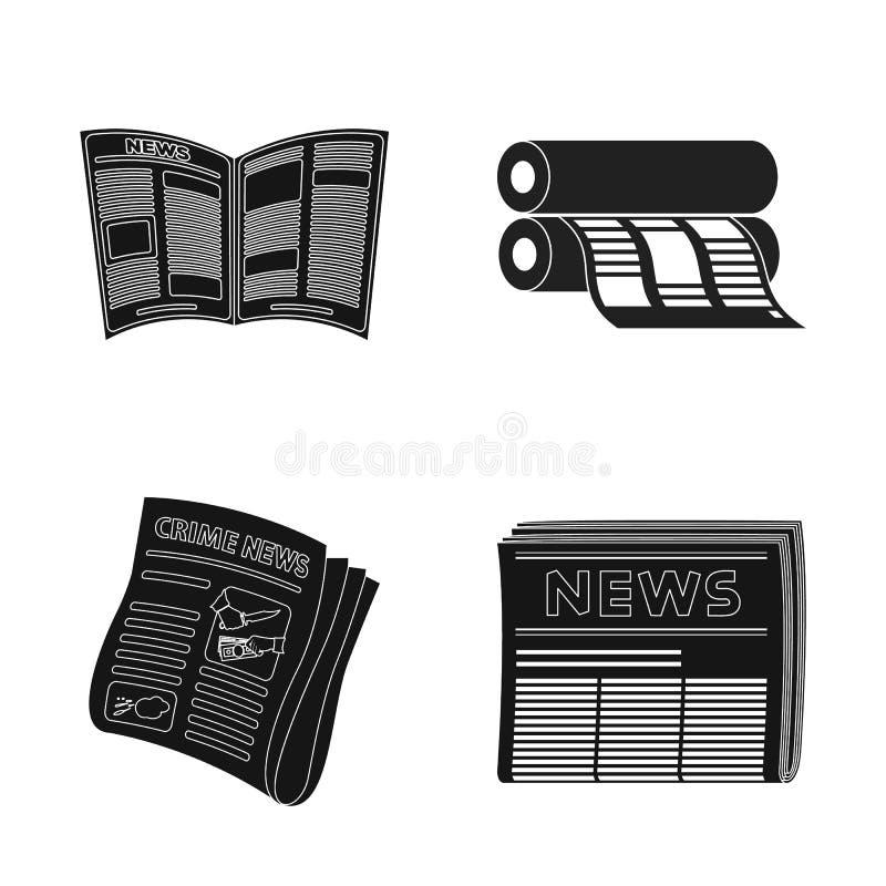 Illustration de vecteur d'icône quotidienne et pliée Placez de l'icône quotidienne et de papier de vecteur pour des actions illustration de vecteur