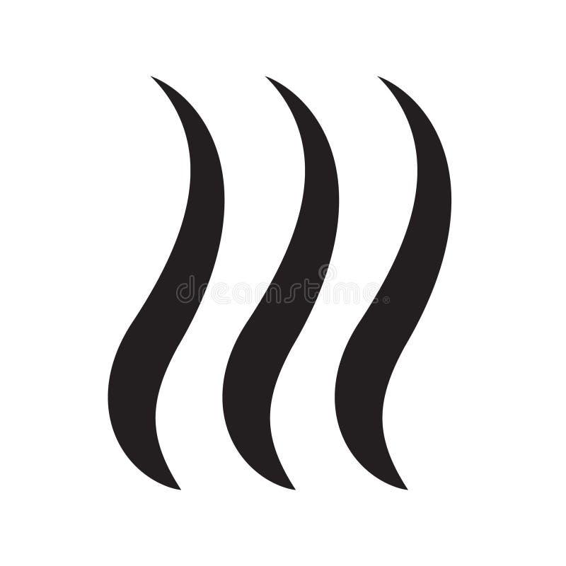 Illustration de vecteur d'icône de souffle de fumée d'isolement illustration de vecteur