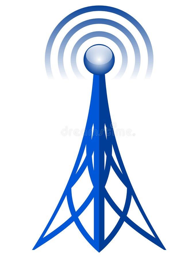 Icône d'antenne de vecteur illustration stock
