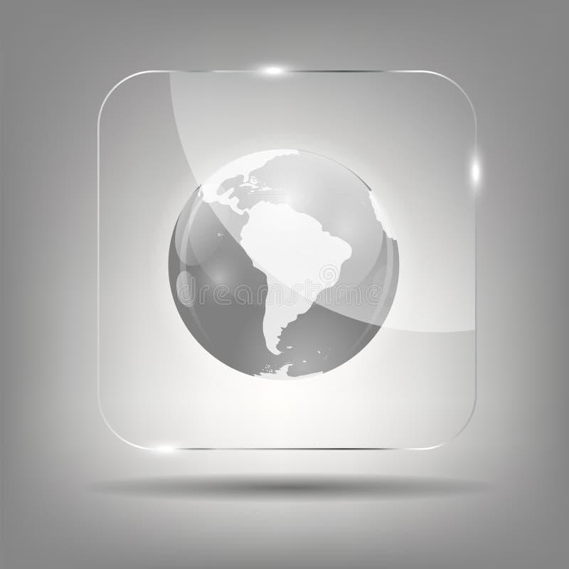 Illustration de vecteur d'icône de globe illustration libre de droits
