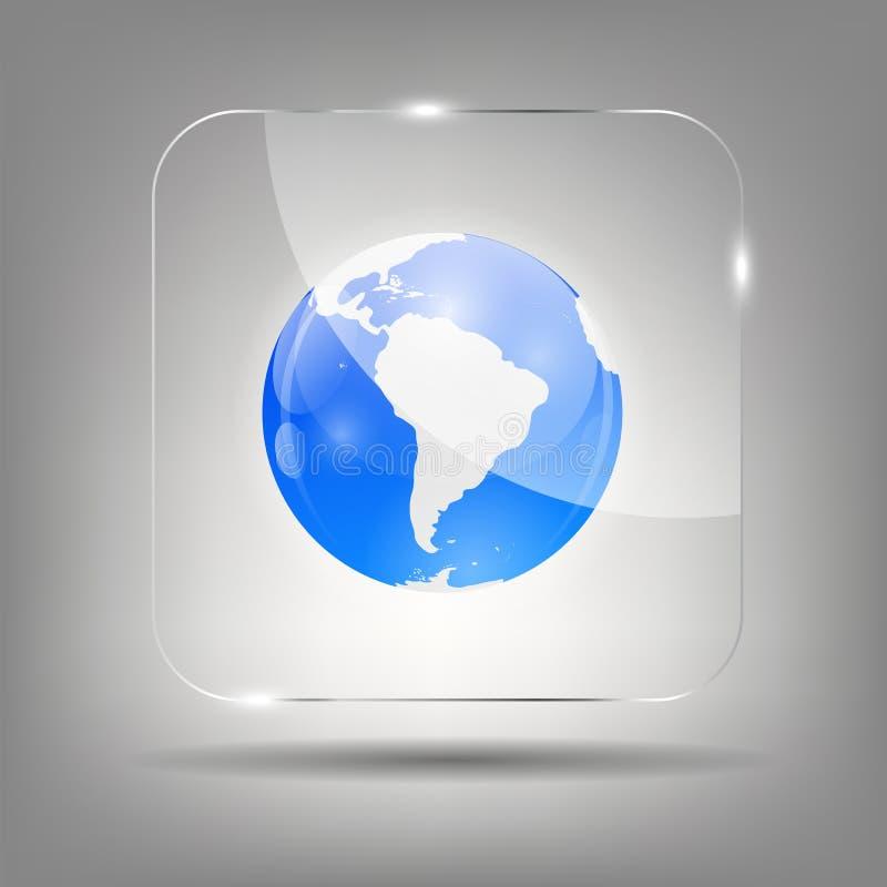 Illustration de vecteur d'icône de globe illustration stock