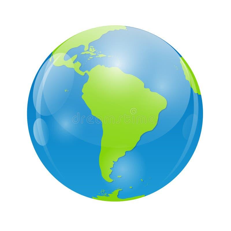 Illustration de vecteur d'icône de globe pour votre conception illustration stock