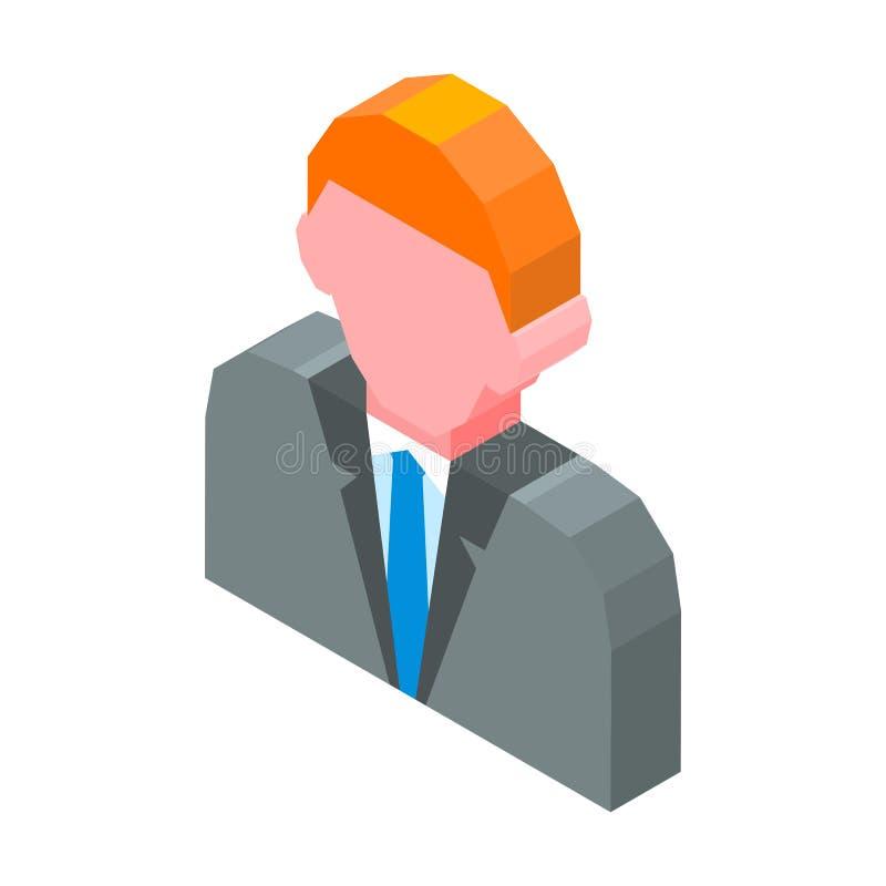 Illustration de vecteur d'icône de l'avatar 3D de personne d'isolement sur le blanc illustration de vecteur
