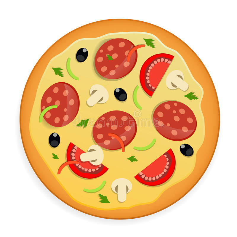 Illustration de vecteur d'icône de pizza. illustration stock