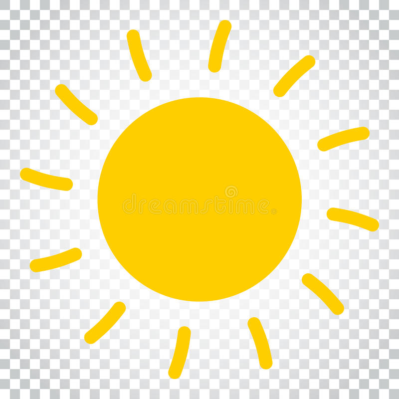 Illustration de vecteur d'icône de Sun Sun avec le symbole de rayon Busine simple illustration de vecteur