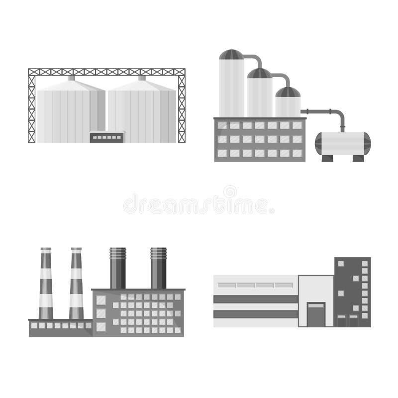Illustration de vecteur d'ic?ne de production et de structure Collection de symbole boursier de production et de technologie pour illustration de vecteur