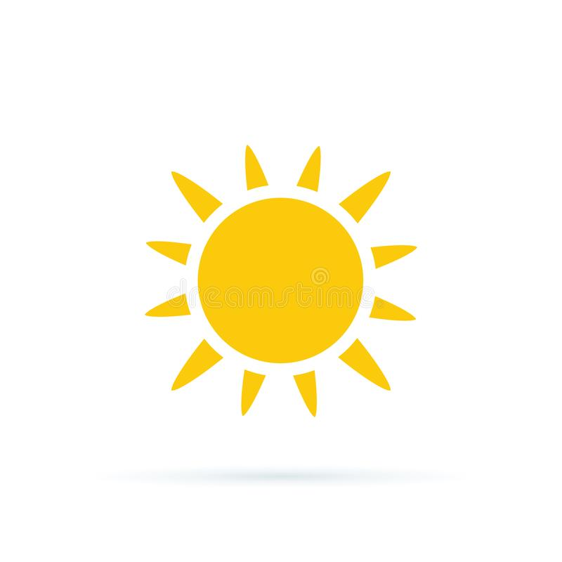 Illustration de vecteur d'ic?ne de Sun Ic?ne de Sun Symbole à la mode d'été pour la conception de site Web, bouton de Web Silhoue illustration stock