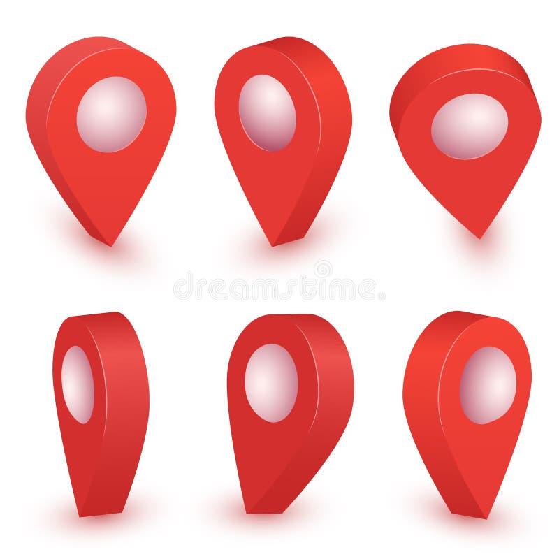Illustration de vecteur d'indicateur de carte Symboles d'emplacement Goupille de marque de flèche de vecteur illustration libre de droits