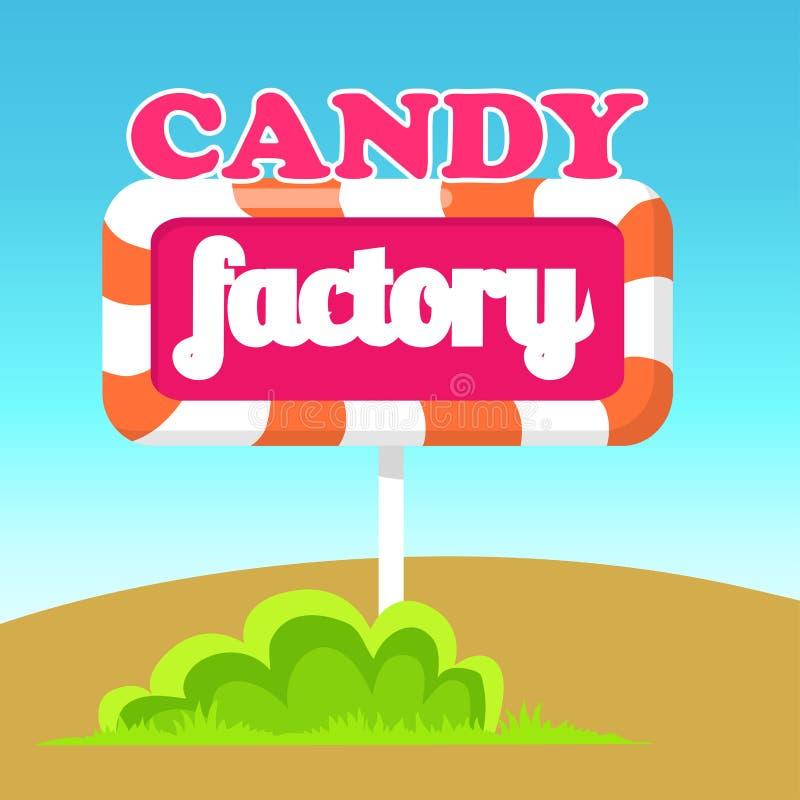 Illustration de vecteur d'indicateur de route d'usine de sucrerie illustration de vecteur