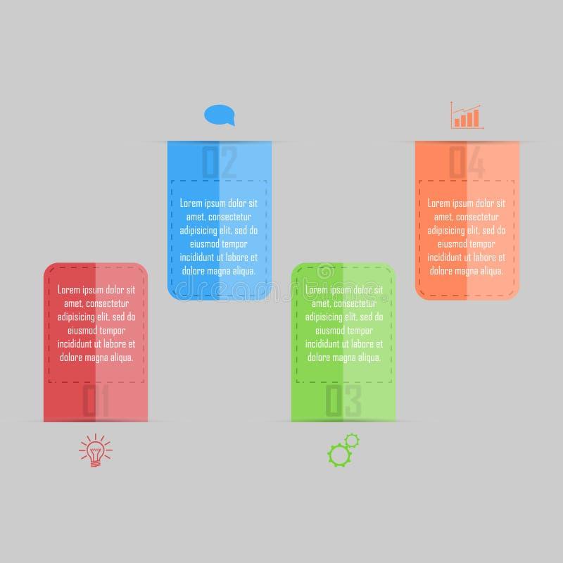 Illustration de vecteur d'Infographic peut être employé pour la disposition de déroulement des opérations, diagramme, numérote l' illustration stock