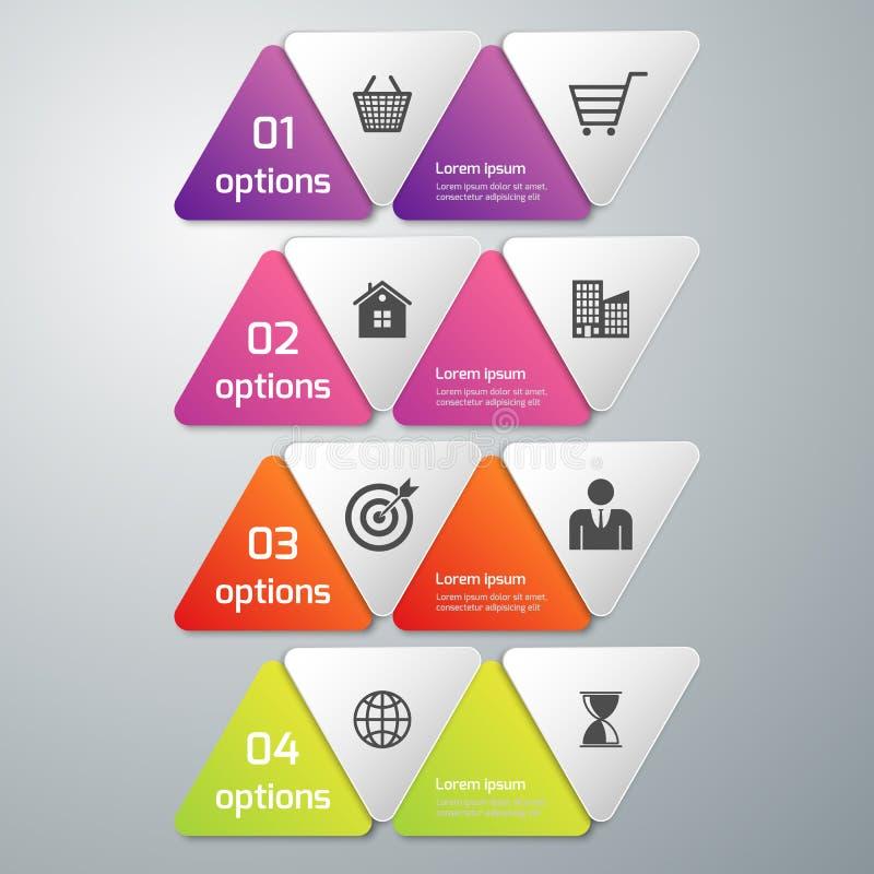 Illustration de vecteur d'infographics d'affaires 4 options illustration libre de droits