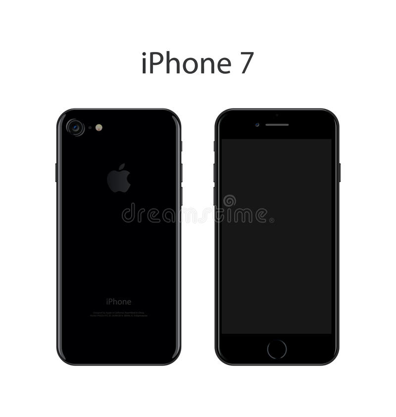 Illustration de vecteur d'IPhone 7 illustration libre de droits