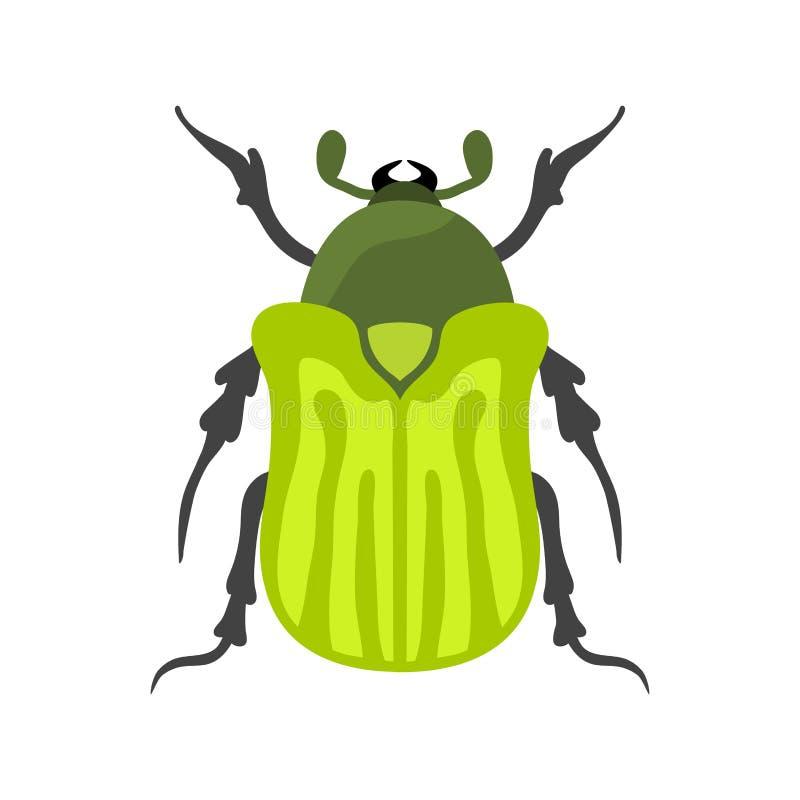 Illustration de vecteur d'isolement par appartement d'icône d'insecte illustration stock