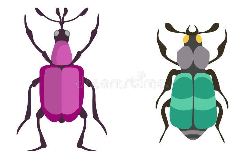 Illustration de vecteur d'isolement par appartement d'icône d'insecte illustration de vecteur