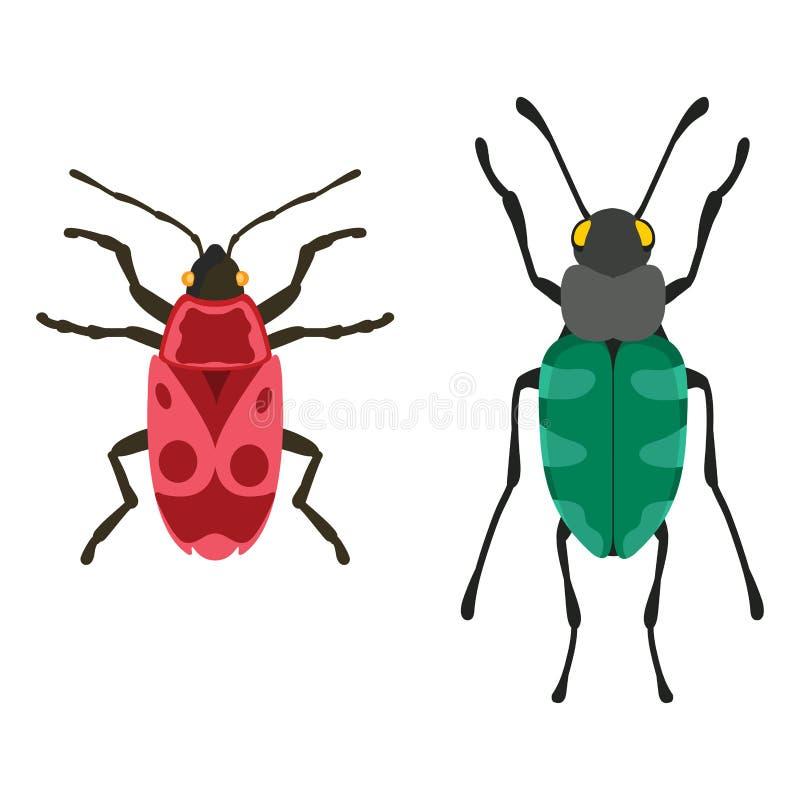 Illustration de vecteur d'isolement par appartement d'icône d'insecte illustration libre de droits