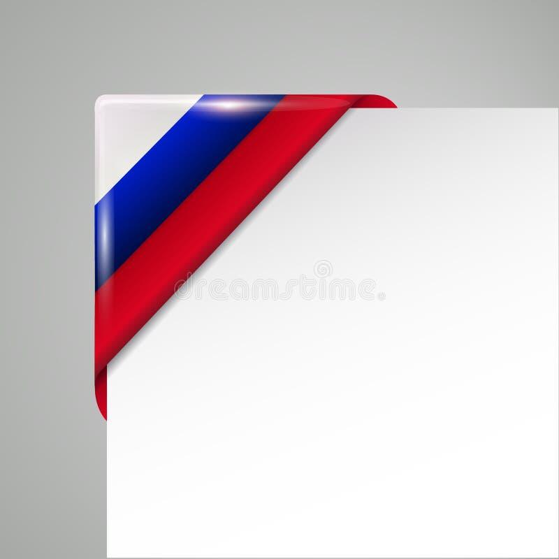 Illustration de vecteur d'isolement par coin de drapeau de la Russie illustration libre de droits