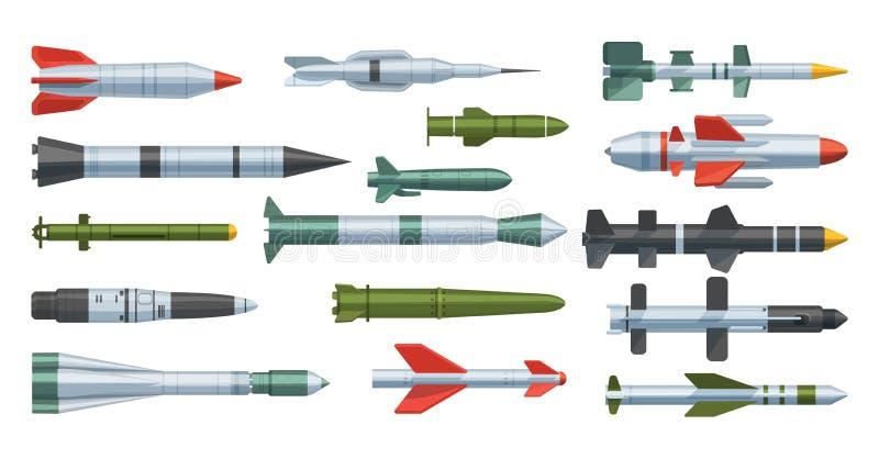 Illustration de vecteur d'isolement par fusée militaire d'armée de missilery sur le fond illustration de vecteur