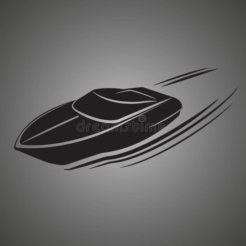 Illustration de vecteur d'isolement par hors-bord Bateau de luxe et cher illustration stock
